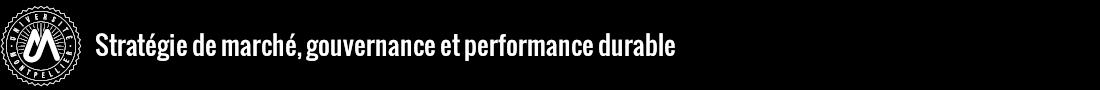 Stratégies de marché, gouvernance alternative et performance durable Logo
